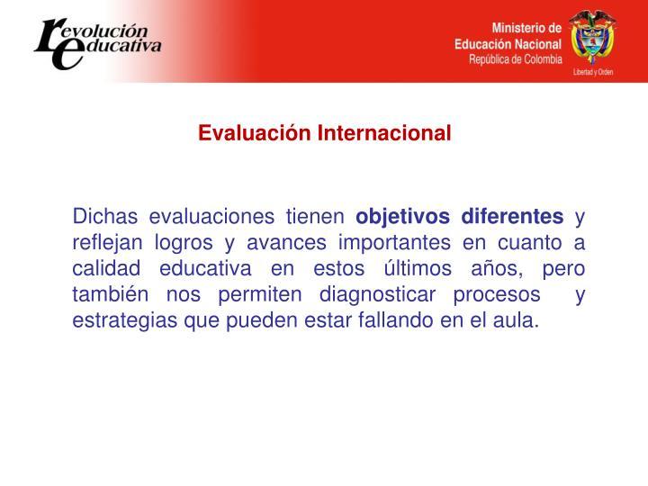 Evaluación Internacional