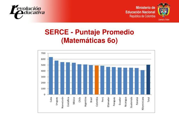 SERCE - Puntaje Promedio