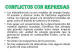 conflictos con represas