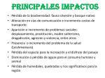 principales impactos