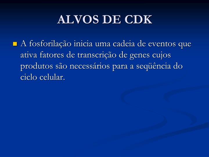 ALVOS DE CDK