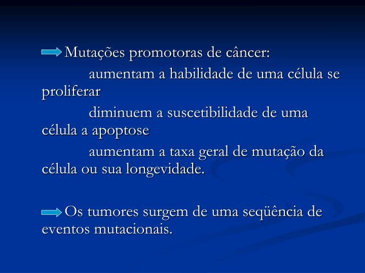 Mutações promotoras de câncer: