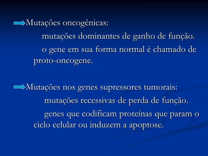 Mutações oncogênicas: