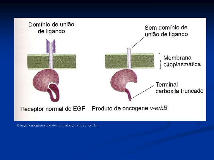 Mutação oncogênica que afeta a sinalização entre as células.