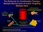 the rationale for combination therapy multiple mechanisms of action targeting multiple sites