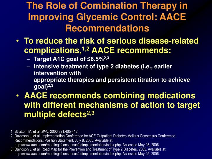 The Role of Combination Therapy in Improving Glycemic Control: AACE Recommendations