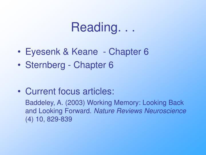 Reading. . .