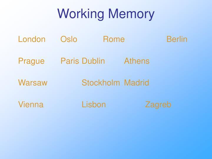 Working Memory