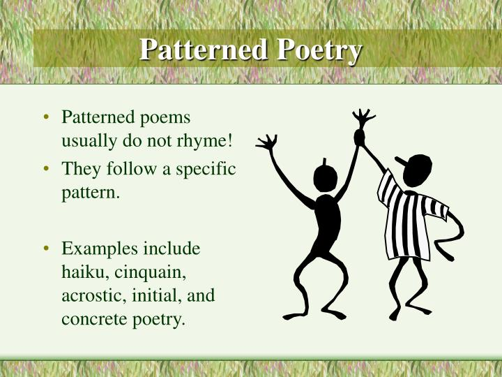 Patterned Poetry