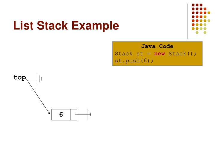 List stack example