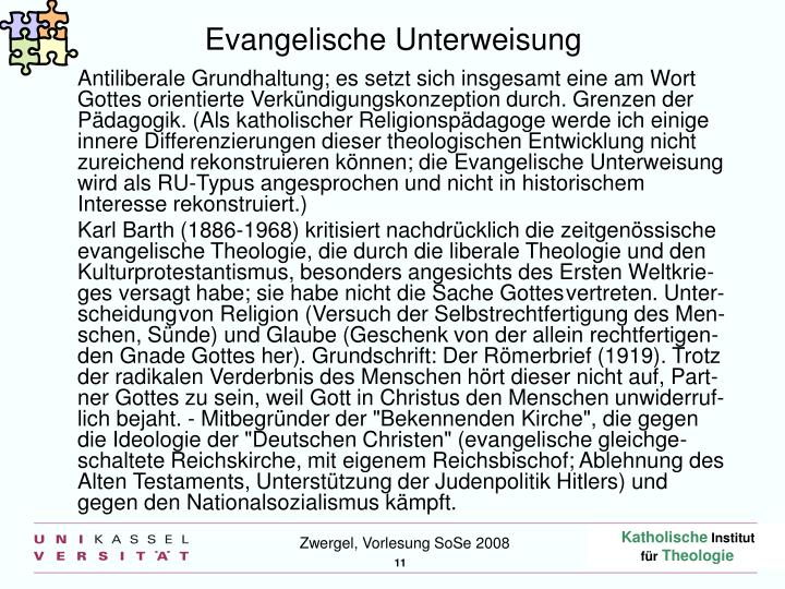 Evangelische Unterweisung