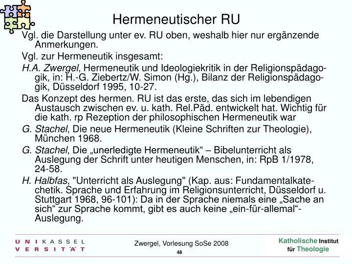 Hermeneutischer RU