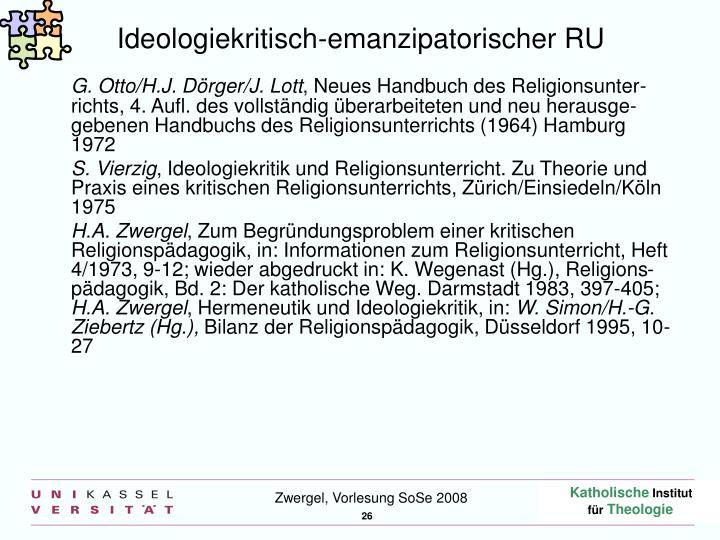 Ideologiekritisch-emanzipatorischer RU