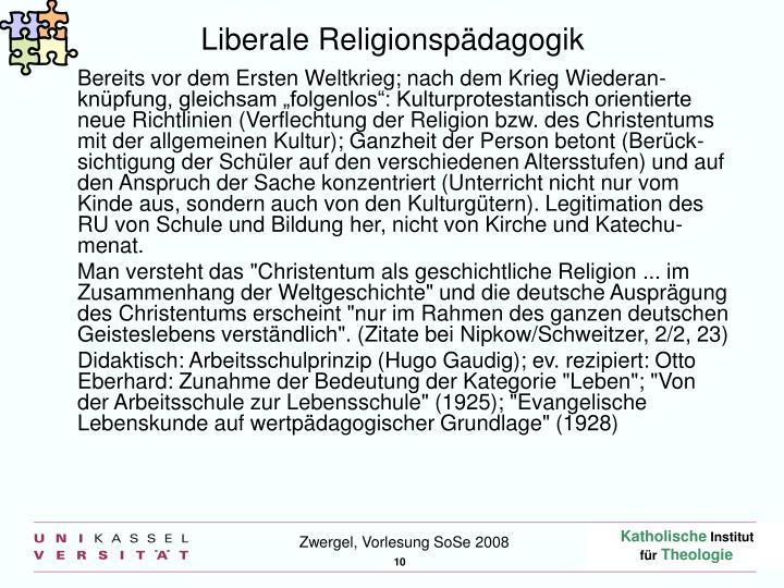 Liberale Religionspädagogik