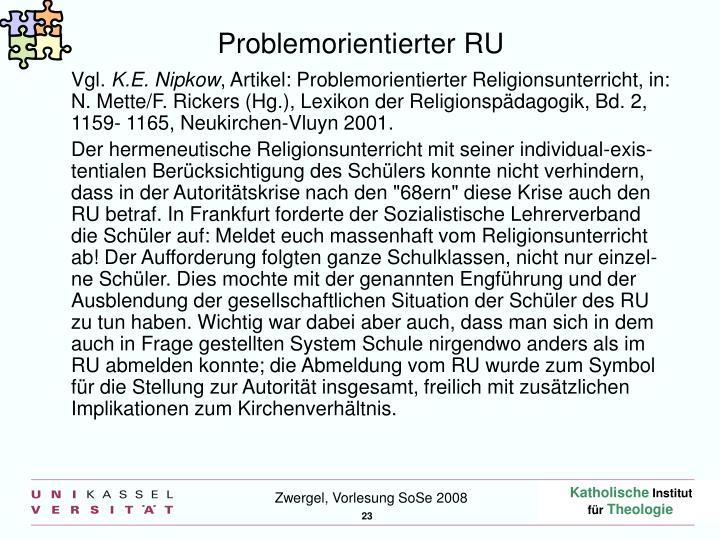 Problemorientierter RU