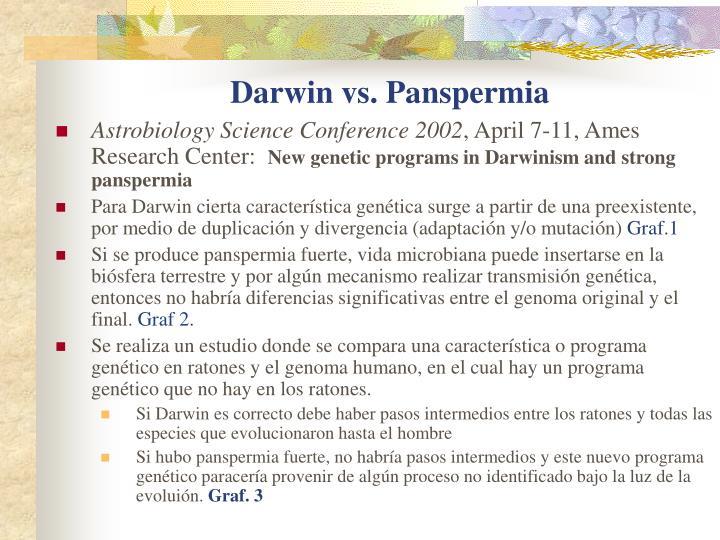 Darwin vs. Panspermia