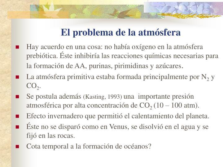 El problema de la atmósfera