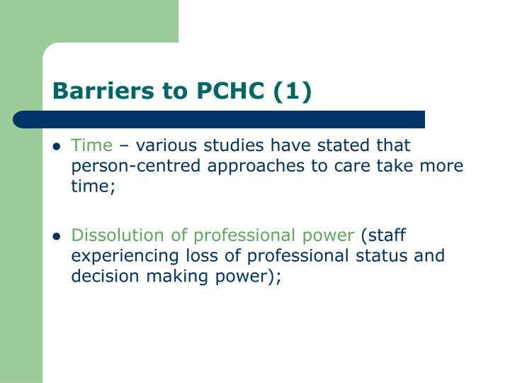 Barriers to PCHC (1)