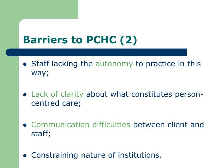 Barriers to PCHC (2)