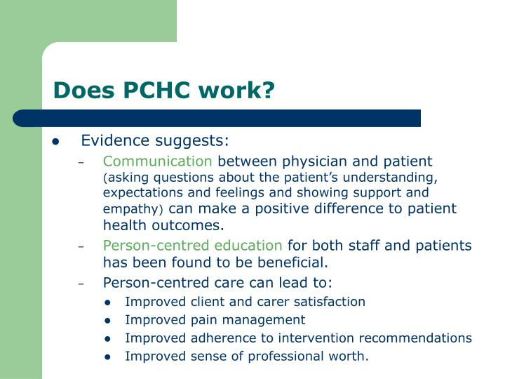 Does PCHC work?