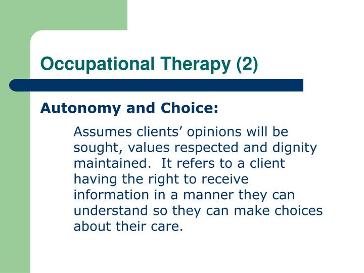 Occupational Therapy (2)