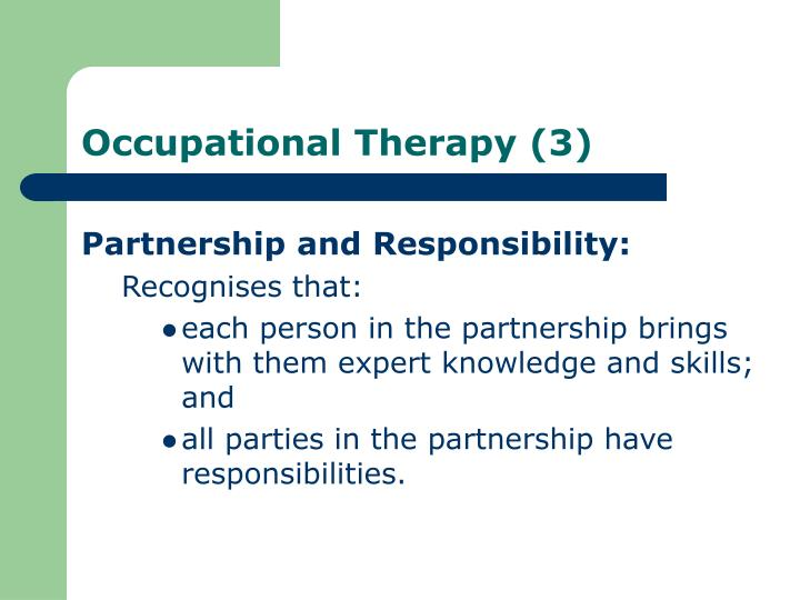 Partnership and Responsibility: