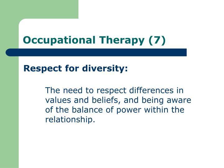 Respect for diversity: