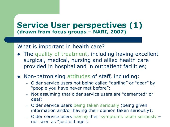 Service User perspectives (1)