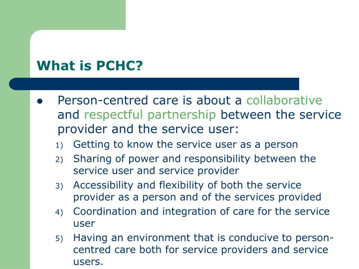What is PCHC?