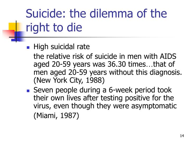 Suicide: the dilemma of the right to die