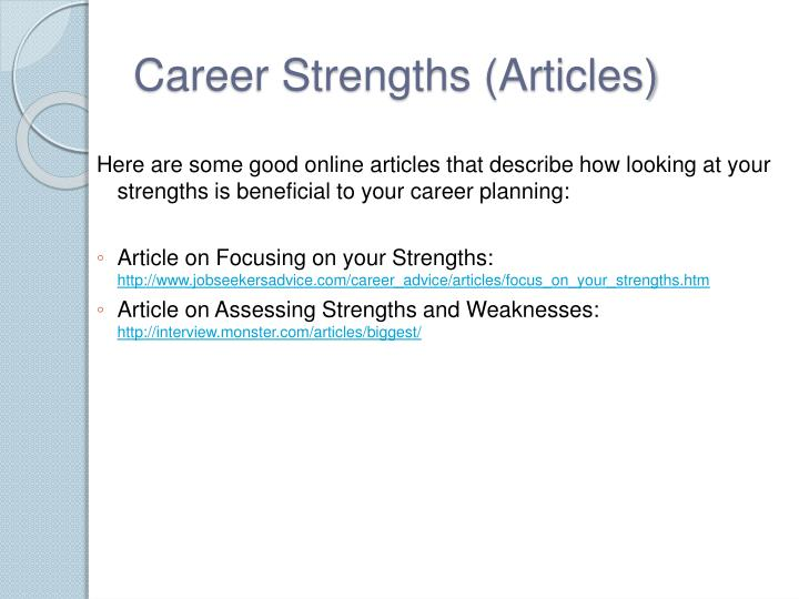 Career Strengths (Articles)