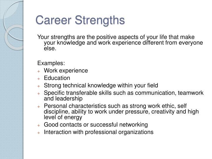 Career Strengths