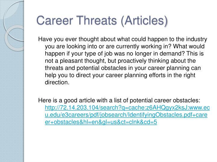 Career Threats (Articles)