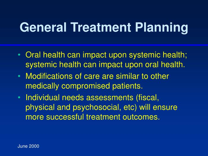 General Treatment Planning