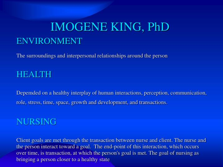 imogene king nursing theory