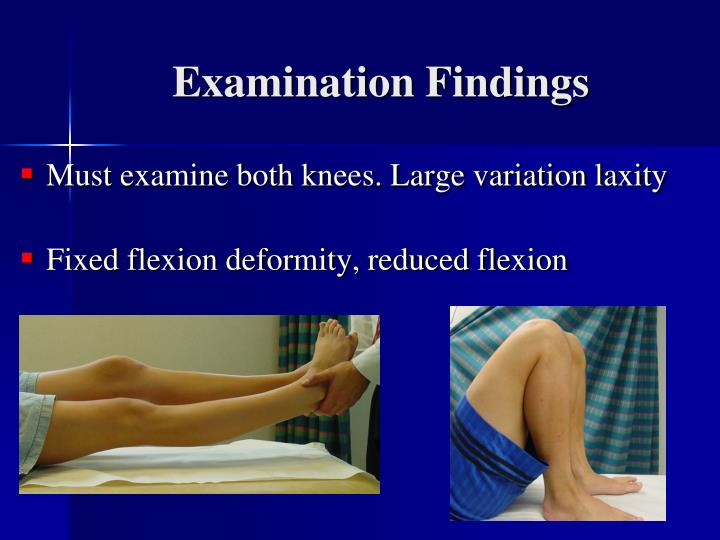 Examination Findings