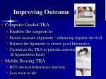 improving outcome