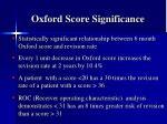 oxford score significance