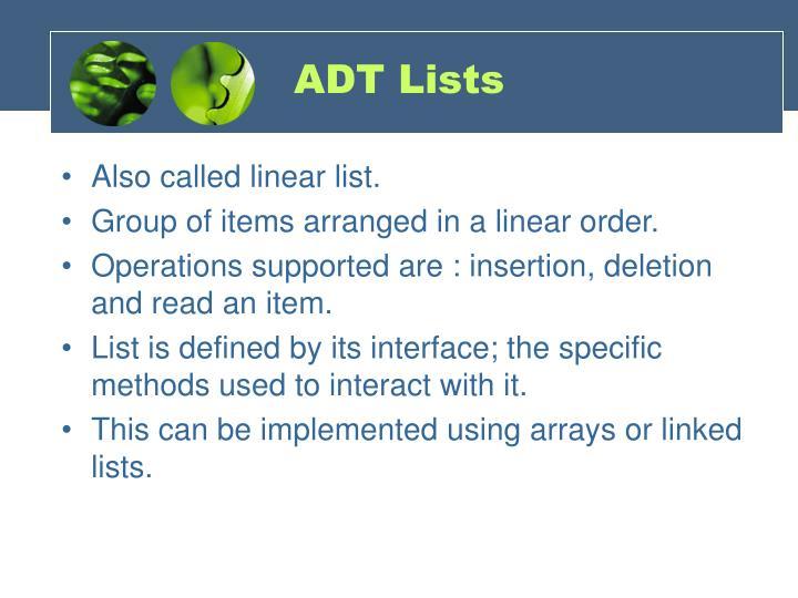 ADT Lists