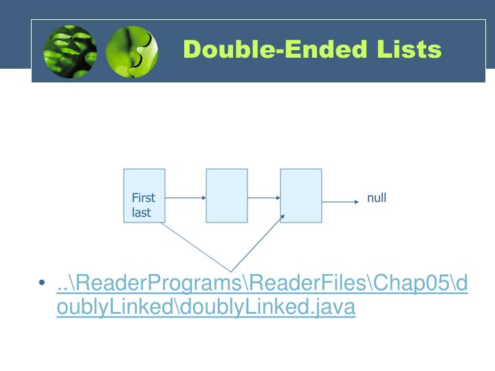 Double-Ended Lists