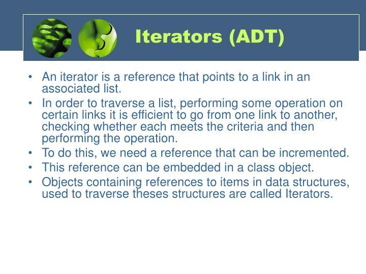 Iterators (ADT)