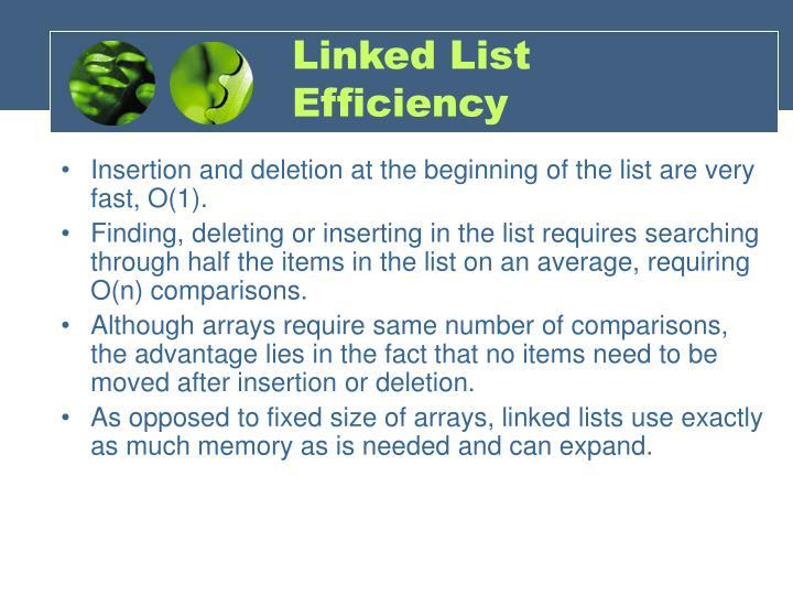 Linked List Efficiency