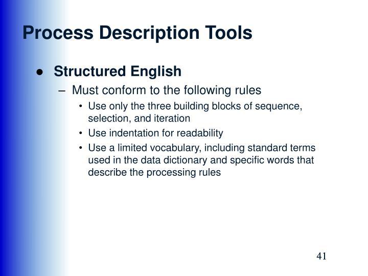 Process Description Tools