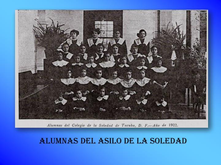 ALUMNAS DEL ASILO DE LA SOLEDAD