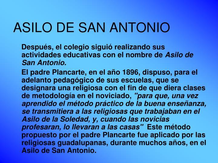 ASILO DE SAN ANTONIO