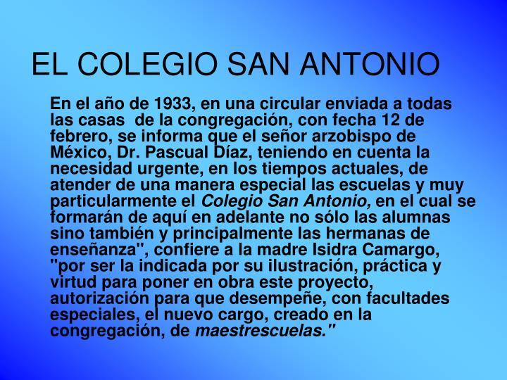 EL COLEGIO SAN ANTONIO