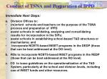 conduct of tsna and preparation of ippd1