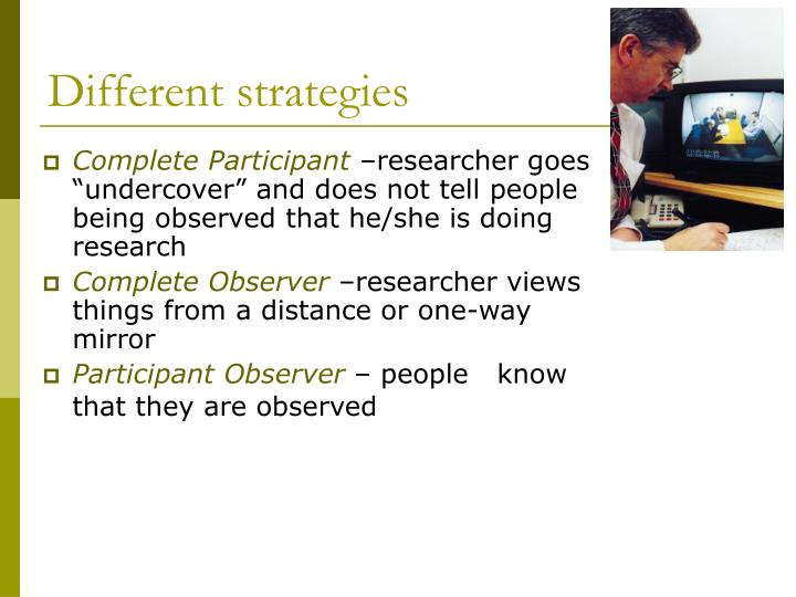 Different strategies