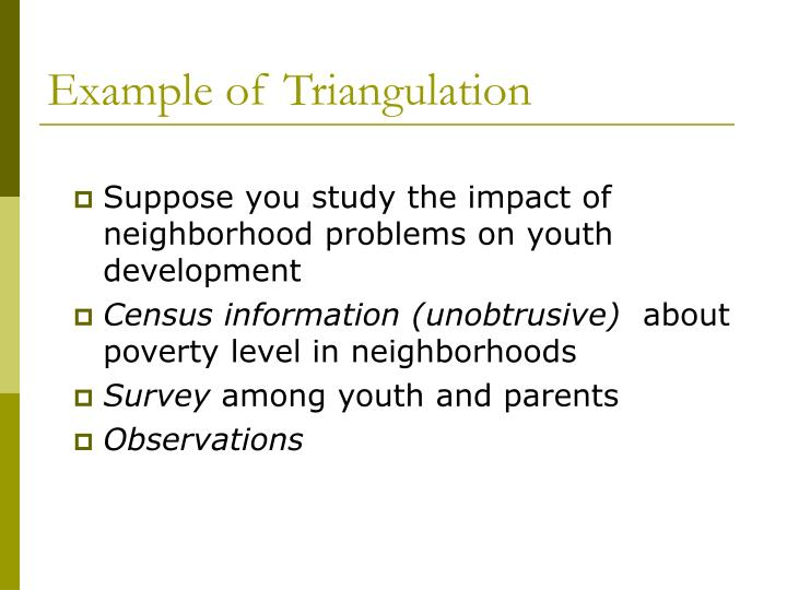 Example of Triangulation