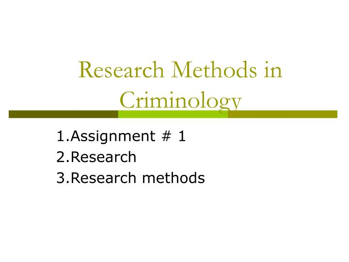 assignment on research methodology To fully understand what information particular parts of the paper should discuss, here's another research paper example including some key parts of the paper.